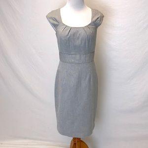 White House Black Market | blue pin stripe dress 4